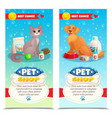 pet shop vertical banners vector image