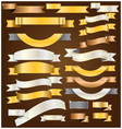 Ribbon goldsilvercopper vector image