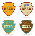 shield with beer commercial vector image