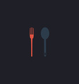 Spoon and fork computer symbol vector image