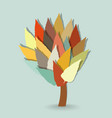 tree with leaves on cold background vector image