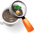 Coffee cup with tropic island vector image vector image