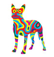 rainbow dog 6 vector image