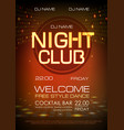 disco abstract background neon sign night club vector image vector image