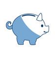 Piggy banking concept safe money icon vector image