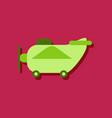 flat icon design retro plane toy in sticker style vector image