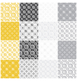 yellow and gray seamless patterns with circles vector image