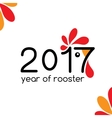 2017 new year card year of the rooster vector image