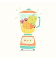 Blender full of funny fruits vector image vector image