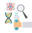 laboratory supplies design vector image