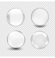 white transparent glass sphere with glares and vector image vector image