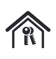 home key icon vector image vector image