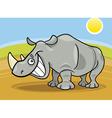cartoon illustration of funny african rhinoceros vector image