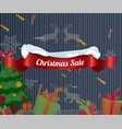 christmas sale poster with christmas ornaments vector image