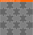 Complete puzzle jigsaw template vector image