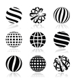 Globe sphere earth icons set vector image
