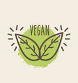 leaves organic icon vector image