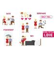 pixel art style love vector image