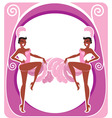 Showgirls poster vector image