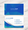 modern business card design in triangle patterns vector image