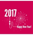 Connecting to the new year 2017 vector image