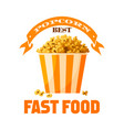 popcorn fast food snack isolated icon vector image