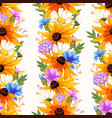meadow flowers seamless vector image