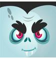 cartoon vampire face vector image