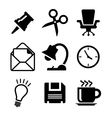 Set of office icons vector image vector image