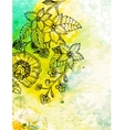Floral background on abstract watercolour texture vector image vector image