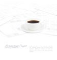 Blueprints sketches vector image