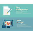 Flat design concepts for web design graphic design vector image vector image