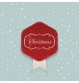 Christmas red Sticker with white Ribbon vector image vector image