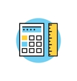 Icon of Ruler with Calculator vector image