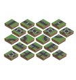 Road elements City map creation kit Isometric vector image