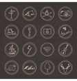 Sketch doodle icon collection vector image