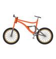 bike mountain downhill orange flat icon bicycle vector image