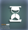 hourglass icon On the blue-green abstract vector image