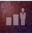 Man with growing diagram in flat style icon vector image