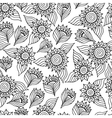 Page of coloring book with sunflowers vector image