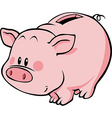 pig moneybox vector image