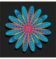 Rainbow flower on black background vector image