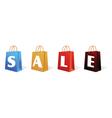 sale sign bag vector image