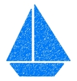 Yacht Grainy Texture Icon vector image
