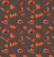 Happy halloween pattern design vector image