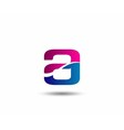 Logo A Letter company design template vector image