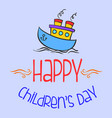 colorful childrens day style background vector image