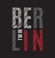 berlin tee print t-shirt design graphics stamp vector image