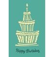 Stylized large birthday cake vector image vector image