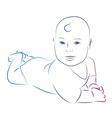 Baby sketch vector image
